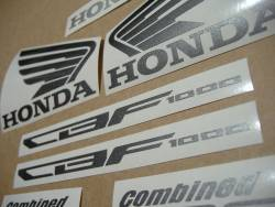 Honda CBF 1000 2010-2011 burgundy emblems logo set