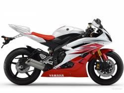 Yamaha R6 2006 2CO white adhesives set