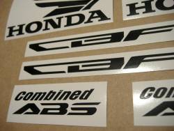 Honda CBF 1000 2012 replacement graphite grey decal set