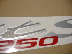 Suzuki Bandit GSF1250S 2007 black emblems logo set