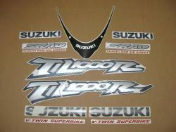 Suzuki TL 1000R V-twin 2001 yellow reproduction stickers