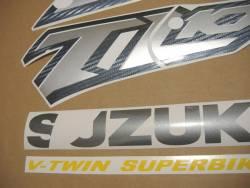 Suzuki TL1000R V-twin 2001 red reproduction stickers