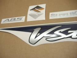 Suzuki DL650 V-Strom 2007 K7 blue reproduction stickers