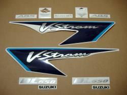 Suzuki V-Strom 650 2008 K8 blue complete decals set