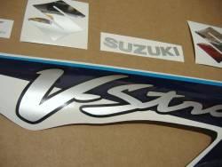 Suzuki V-Strom 650 2008 K8 blue logo graphics set