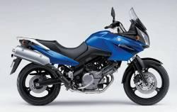 Suzuki DL650 2005-2006 blue full decals kit
