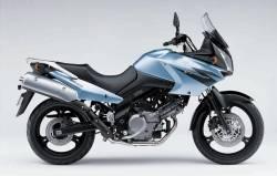 Suzuki V-Strom 2005-2006 silver full decals kit