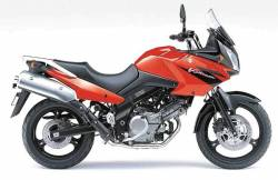 Suzuki DL650 Vstrom 2005-2006 red version decals set