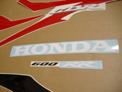 Honda CBR 600RR 2008 red stickers