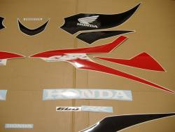 Honda CBR 600RR 2008 red stickers set