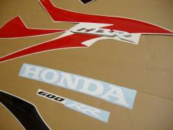 Honda 600RR 2008 red labels graphics