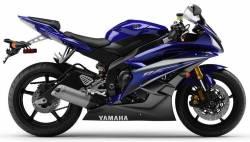 Yamaha YZF R6 2007 2CO blue stickers kit