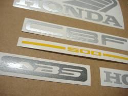 Honda CBF500a 2005 black emblems logo set