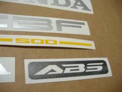 Honda CBF500a 2005 black replacement stickers
