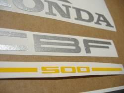 Honda CBF500 2005 black reproduction stickers