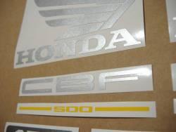 Honda CBF500a 2005 black replacement decals