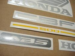 Honda CBF 500 2004 blue replacement decals