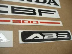 Honda CBF 500a 2004 silver emblems logo set