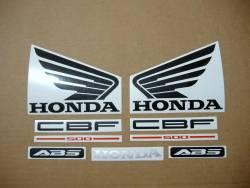 Honda CBF 500 2004 silver complete decals set