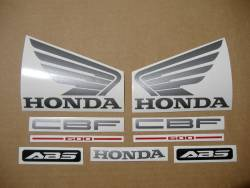 Honda CBF600 naked 2004 silver reproduction stickers