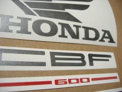 Honda CBF 600n pc38 2004 silver replacement graphics