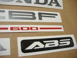 Honda CBF 600n pc38 2004 silver emblems logo set