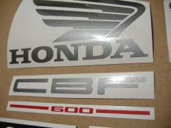 Honda CBF600 2004 pc38 silver replica stickers kit