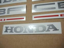 Honda CBF 600s pc38 2004 silver emblems logo set