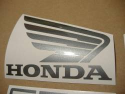 Honda CBF600 half-fairing 2004 gray replica decals kit