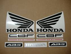 Honda CBF 600n pc38 2006 baby blue complete decal set