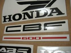 Honda CBF 600n pc38 2005 light blue emblems logo set