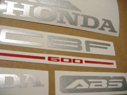 Honda CBF600 2006 medium blue replacement decals