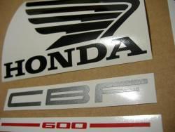 Honda CBF600 2005 pc38 silver replacement stickers