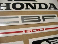 Honda CBF600 2006 silver reproduction adhesives