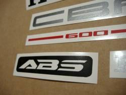 Honda CBF600 pc38 2005-2006 silver emblems logo set