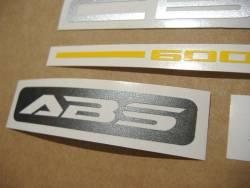 Honda CBF600 naked 2005 black replacement stickers