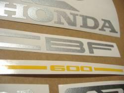 Honda CBF 600n 2006 black replacement decals kit