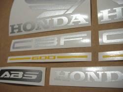 Honda CBF 600n pc38 2005-2006 black emblems logo set