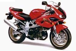 Suzuki TL1000s 1997 red replacement stickers set
