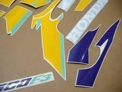 Honda CBR 600f F3 97 purple-yellow replacement decals