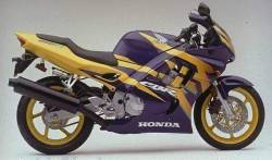 Honda CBR 600f F3 97 purple-yellow complete decal set