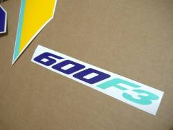 Honda CBR 600f F3 1997 purple-yellow replica graphics set