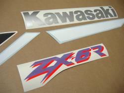 Kawasaki ZX-6R Ninja 2000 J1 green complete decal set
