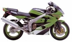 Kawasaki ZX6R 2000 J1 green reproduction graphics