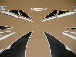 Kawasaki ZX-6R Ninja 2000 J1 red emblems logo set