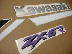 Kawasaki ZX-6R Ninja 2000-2001 J1 red graphics kit
