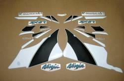 Kawasaki ZX-6R Ninja 2001 J1/j2 grey full sticker kit