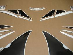Kawasaki ZX6R Ninja 2000 J1 grey reproduction stickers