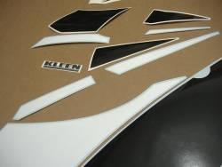 Kawasaki ZX6R Ninja 2001 J1 silver reproduction decals