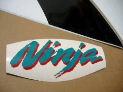 Kawasaki ZX6R Ninja 2001 silver complete graphics set